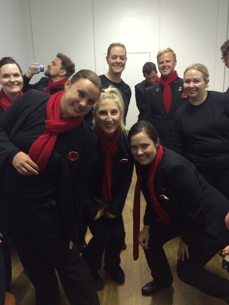 The choir savours every last moment of performing, including some backstage pics!
