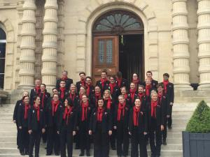 Performing on the steps of Amiens Town Hall.
