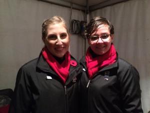 Choristers Julia Bruerton and Bree Cohen.