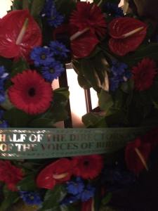 Voices of Birralee wreath.