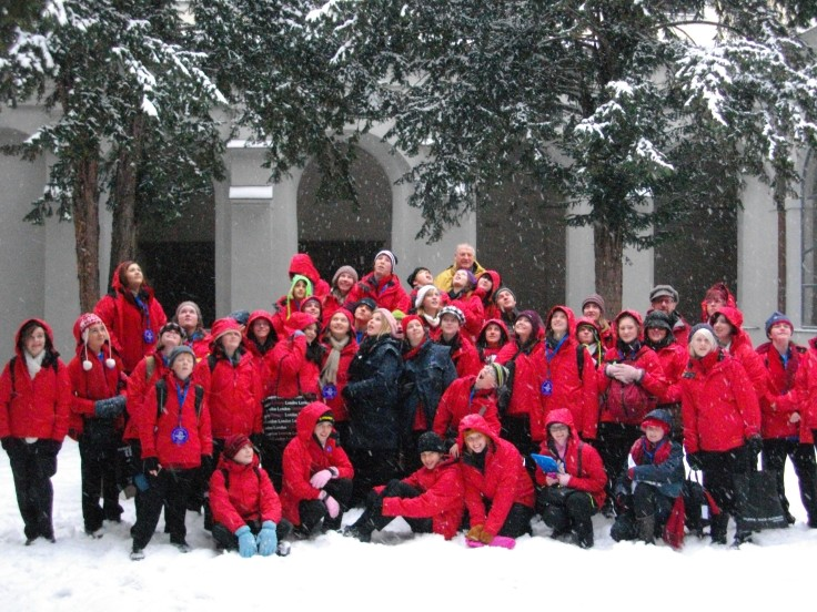 Our choristers in Prague during the 2010 Europe tour.