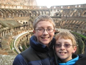 Choristers Matt and Nic enjoy Rome