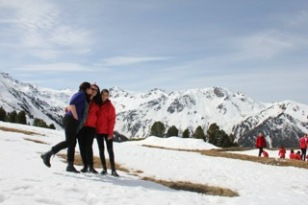 """Never had we felt so on top of the world as we were in the Alps! """