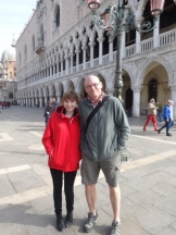 Phil and Bridie in St Mark's Square.