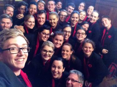 All the choristers with Paul - Best selfie ever!
