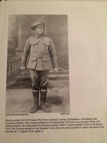 Private Percy Leonard Cooney