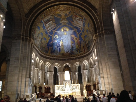 The stunning interior of The Sacre Coeur.