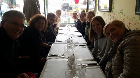 A spot of lunch at Montmartre - in the warmth.