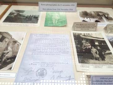 Items from Armistice Day and the part of the Treaty of Versailles where the Australians and New Zealanders signed. Pics by Rochelle