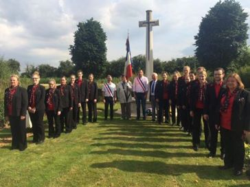 The first commemorative service in Allonville, July 2016.