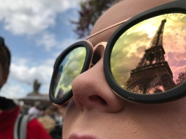 Artsy pic by Caitlin of the Eiffel Tower (Pic by Caitlin)