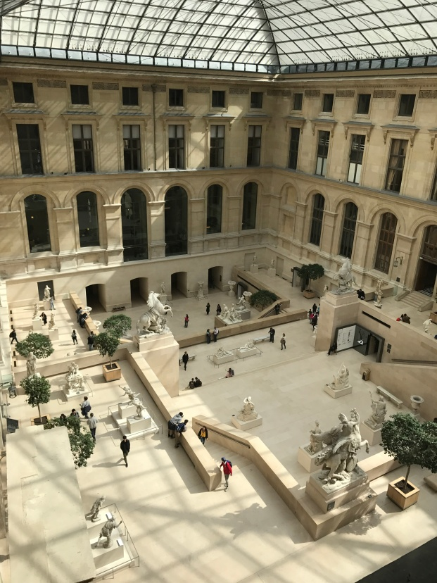 The massive layout of the Louvre (Pic by Caitlin)