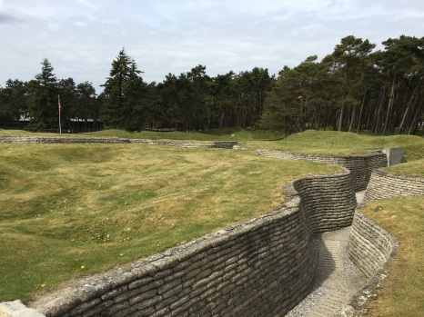Vimy, Ridge. Trenches from WW1 mostly occupied by the Canadian Corps. (pics from Kate)