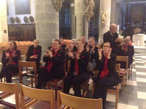 Clapping the wonderful organ performance (pic by Robyn)