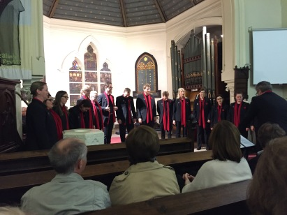 Our choir performs in Christ Church Lille (Pic by Steve)
