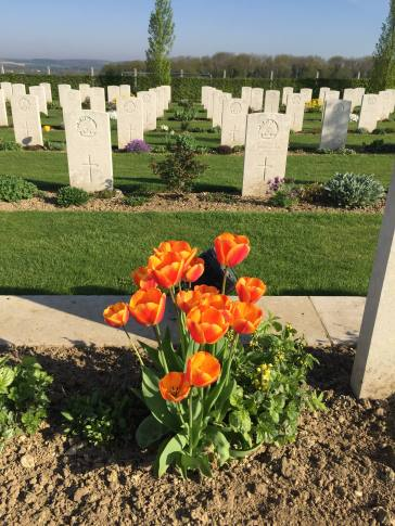 At the Australian National Memorial, Villers-Bretonneux (pic by Paul)