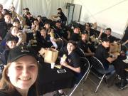 Chilling in the GreenRoom / Tent at the ANM site for lunch