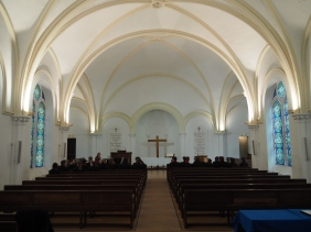 Our choristers first performance venue (pic by Brian Wood)