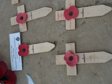 Tributes at Thiepval Memorial(pic by Brian)