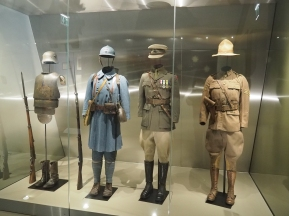 Uniforms from WW1 at the Franco Australian Museum (pic by Brian)