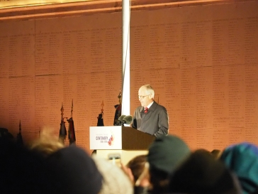Australian Prime Minister Malcolm Turnbull delivers his address (pic by Brian)