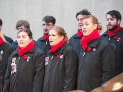The choir sings during the wreath laying (pic by Brian)