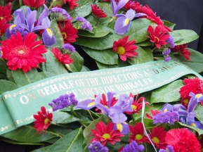 The wreath laid on behalf of Voices of Birralee (pic by Brian)