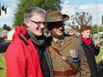 Paul Holley with the Australian Army Band conductor Major Major Matt Chilmead.