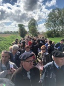 Marching from the Bullecourt Service to the Digger Memorial led by the Australian Army Band (pic by Tilly)