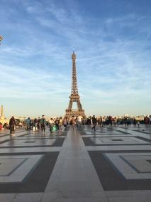 The Eiffel Tower on a beautifully sunny day (pic by Adiya)