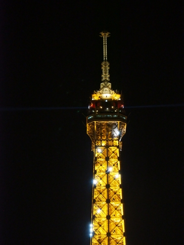 The Eiffel Tower lighting up Paris' sky (Pic by Brian)