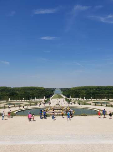 The grounds at the Palace of Versailles (pic by Maddie)