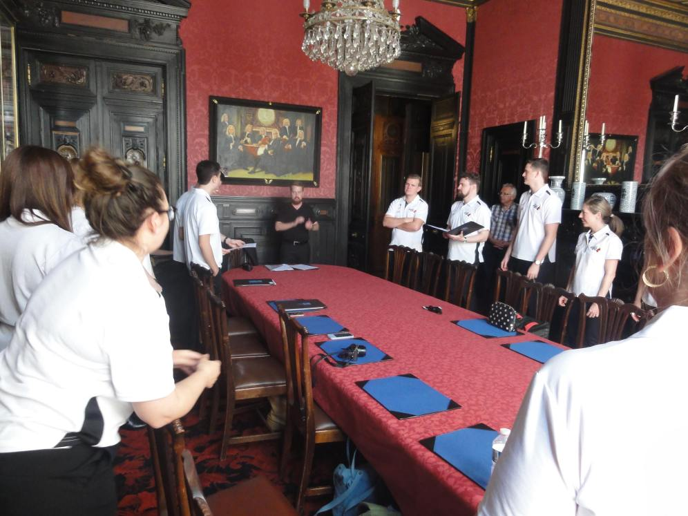 The grand Hôtel de la Païva, a beautiful venue for the group's first rehearsal for the tour (pic by Michael).