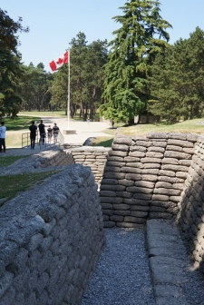 Exploring the Vimy Ridge trenches (pic by Heather)
