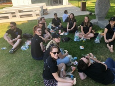 Relaxing between touring (pic by Julie)