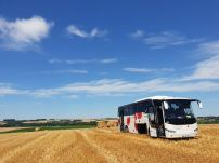 The tour bus at Le Hamel (pic by Maddie)