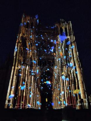 Light show at Amiens Cathedral (Pic by Sally)