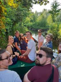 Boat ride in Amiens (pic by Maddie)