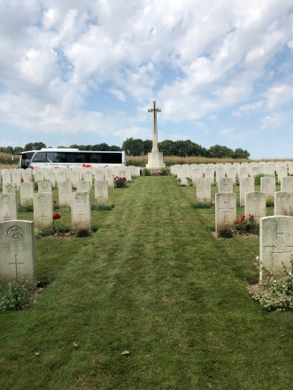 British cemetery at Halloy-lès-Pernois (Pic by Sally)