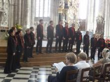 Performing at Amiens Cathedral (pic by Michael)
