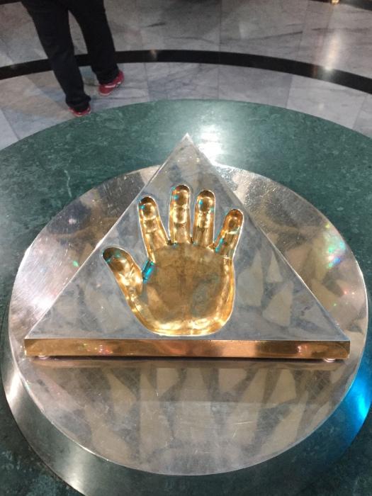 The handprint of Kazakhstan's President.