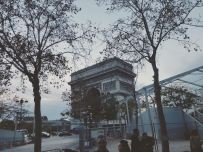 The impressive Arc de Triomphe (pic by Isabelle)