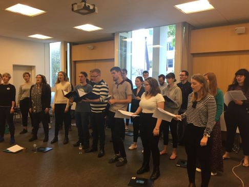 Choir rehearsals begin! (pic by Jenny)